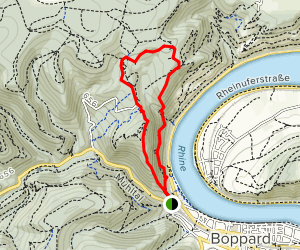Middle Rhine Via Ferrata Map