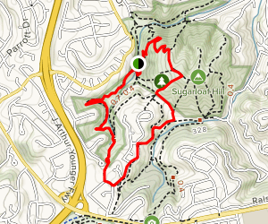 Poison Oak Valley to Saddle Trail  Map