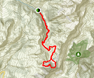 Mount Charvin Summit Trail  Map