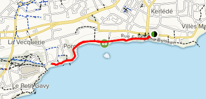 Coastal Path to Porcé Beach Map