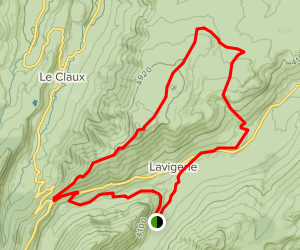 Puy de Niermont Loop Map
