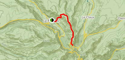 Falgoux to Puy de la Tourte Map