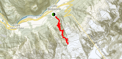 Bossons Glacier, Chalet of the Pyramid and The Junction Map
