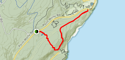 Tippenlot South and Coastal Trail  Map