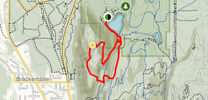 Debeck's Hill, Rigs in Zen and Jack's Trail Loop  Map