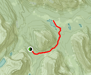 Skoki Pass Route to Red Deer Lakes Map