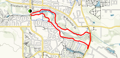 Sheep River Loop  Map