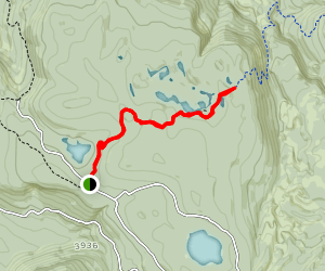 High Lakes Trail to Chain of Lakes Campground Map
