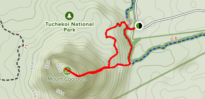 Mount Cooroora  Map