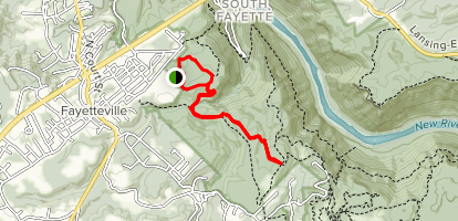 Park Loop to Fayetteville Trail Map