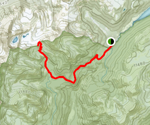 Grand Ditch to Thunder Pass Trail Map
