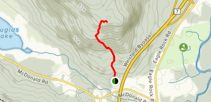 Mount Douglas Bald Trail  Map