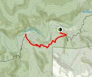Camp Orr to Kyle's Landing via Buffalo River Trail Map