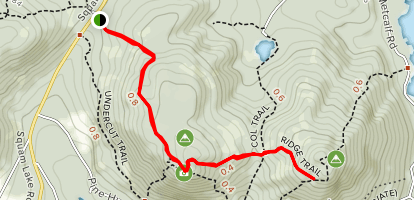 West and East Rattlesnake Mountain via Old Bridle Path Map