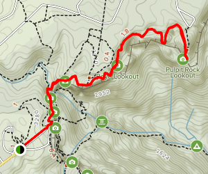 Law, Cripps, Boyd and Pulpit Rock Lookout via Jungle Circuit Map
