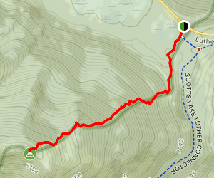 Waterhouse Peak Trail Map