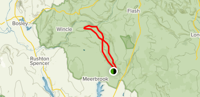 The Roaches and Lud's Church Loop Map