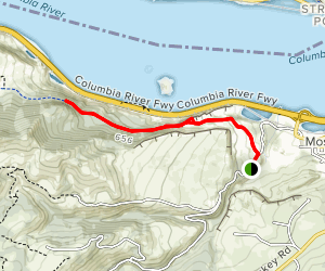 Twin Tunnels East Side via Historic Columbia River Highway Map