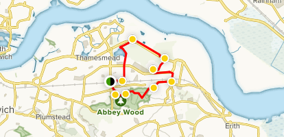 Abbey Woods Loop  Map