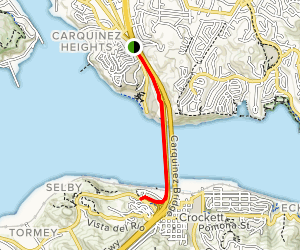 Carquinez Bridge Walk Map