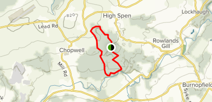 Chopwell Woods Loop Map