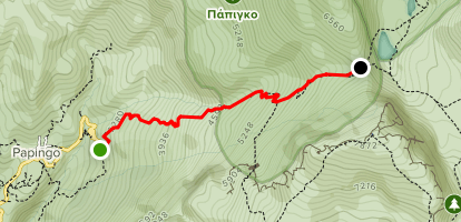 Papingo to Astraka Mountain Refuge Map