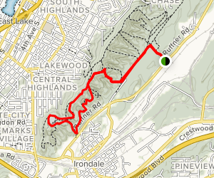 Ruffner Mountain Quarry Trail and Ridge and Valley Trail Map