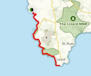Mellin Cove to The Lizard Map