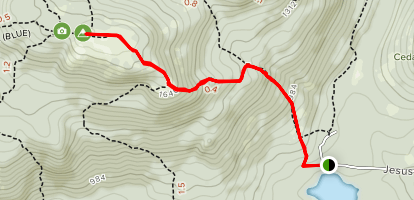 Straightback Mountain via Langille Sno-Mo Trail Map
