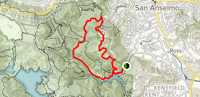 Phoenix Lake to Mountt Baldy to Shave Grade Road Loop Map
