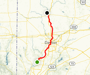 Great Miami River Trail: Middletown to Piqua Map