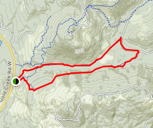 Tin Mine Trail via Davis Trail Map