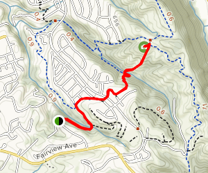 Sandstone Trail to Shady Canyon to Lookout  Map