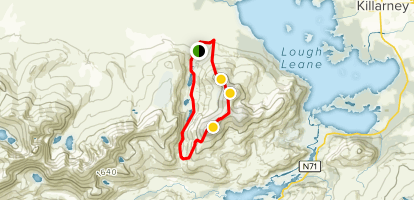 Tomies Mountain and Purple Mountain Loop  Map