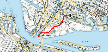 Camping Viengenbos to Central Station  Map