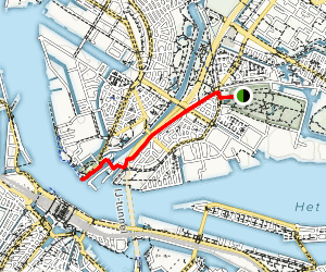 Camping Vliegenbos to Central Station Alternate Route Map