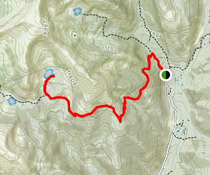 Boulder Lake via Fossil Ridge  Map