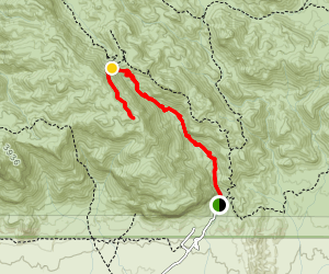 Peralta Canyon Trail to Robber's Roost Map