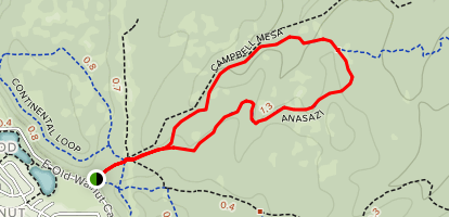 Campbell Mesa and Anasazi Loop Map