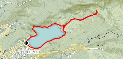 Cleo's Bath Trail via Pinecrest Lake Loop Map