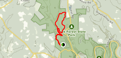 Corduroy, Liggett, Deer Meadow, and Heffren Run Trails Loop from Campground Map