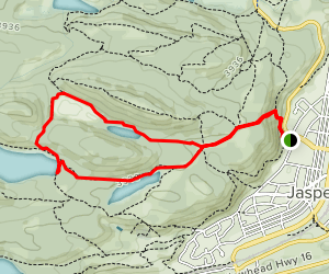 Mina Lake and Cabin Lakes Trail Map