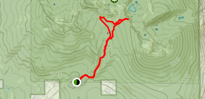 Clover Creek and Mountain Lakes Loop Map