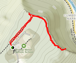 Bishop Walsh to Cumberland Overlook Map