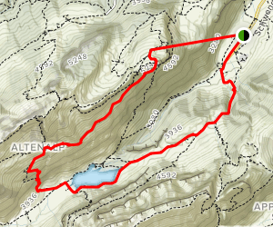 Ebenalp Ascher and Seealpsee Map
