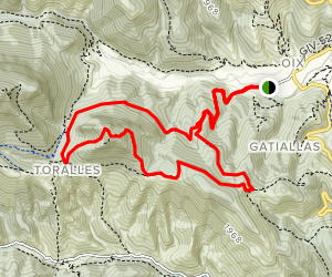 Mas Pineda to Monpetit Loop Map