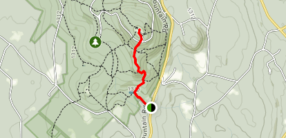 Echo Lake Road, High Meadow, Jack Frost and Harrington Trail Map