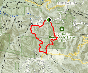 Eagle Rock and Little Basin Trails Loop Map