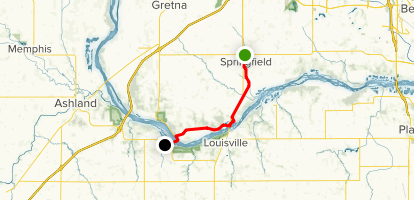 MoPac Trail: Springfield to South Bend Map