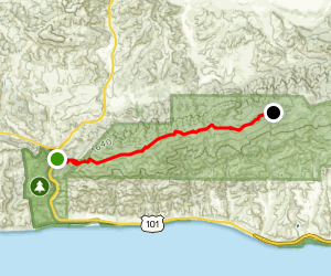 Bald Mountain via Gaviota Peak Trail  Map